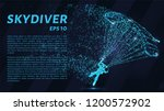 skydiver of the particles.   Shutterstock .eps vector #1200572902