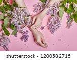 fashion art hands natural... | Shutterstock . vector #1200582715