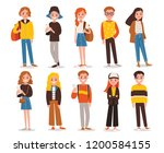 set of people in different... | Shutterstock .eps vector #1200584155