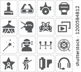 collection of 16 entertainment... | Shutterstock .eps vector #1200584812