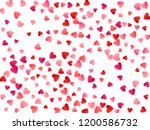 ruby red flying hearts bright... | Shutterstock .eps vector #1200586732