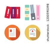 bureaucracy icon set. vector... | Shutterstock .eps vector #1200590398
