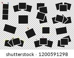 set of realistic vector photo... | Shutterstock .eps vector #1200591298
