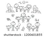 illustrations of happy cartoon... | Shutterstock .eps vector #1200601855