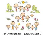 illustrations of happy cartoon... | Shutterstock .eps vector #1200601858