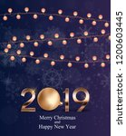 2019 new year background with... | Shutterstock . vector #1200603445