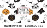 halloween seamless pattern.... | Shutterstock .eps vector #1200607732