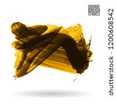 yellow brush stroke and texture....   Shutterstock .eps vector #1200608542