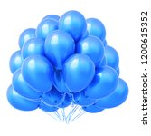 blue helium balloons bunch ... | Shutterstock . vector #1200615352