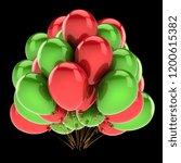balloons bunch red green... | Shutterstock . vector #1200615382