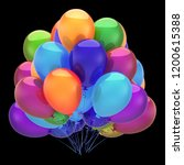 multicolored party balloons... | Shutterstock . vector #1200615388