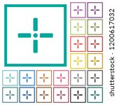precise cursor flat color icons ... | Shutterstock .eps vector #1200617032