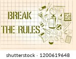 word writing text break the... | Shutterstock . vector #1200619648