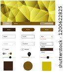dark yellow vector wireframe...