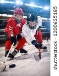 ice hockey boys player in sport ... | Shutterstock . vector #1200635185