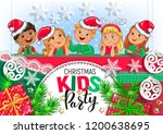 cool christmas kids party design | Shutterstock .eps vector #1200638695