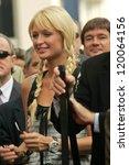 paris hilton at the ceremony... | Shutterstock . vector #120064156