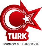 turkish flag elements star and... | Shutterstock .eps vector #1200646948