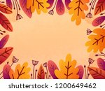 vector autumn background with... | Shutterstock .eps vector #1200649462