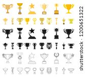 gold cup cartoon icons in set... | Shutterstock .eps vector #1200651322