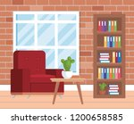 living room place with sofa | Shutterstock .eps vector #1200658585