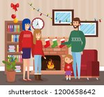 parents and kids with december... | Shutterstock .eps vector #1200658642