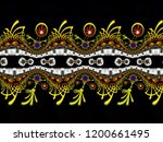 a  hand drawing pattern made of ... | Shutterstock . vector #1200661495