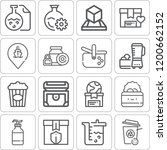 collection of 16 container... | Shutterstock . vector #1200662152