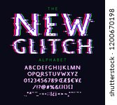 new glitch vector font and... | Shutterstock .eps vector #1200670198