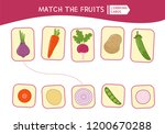 matching children educational... | Shutterstock .eps vector #1200670288