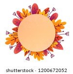 paper style textured round... | Shutterstock .eps vector #1200672052