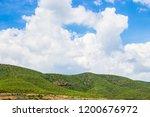 mountains roads daytime forest... | Shutterstock . vector #1200676972