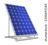 solar panel concept 3d...   Shutterstock . vector #1200692185