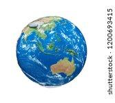 earth globe realistic 3d color...   Shutterstock . vector #1200693415