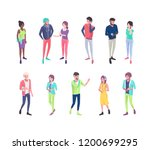 set of isometric people with...   Shutterstock .eps vector #1200699295