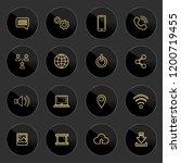 web icons pack golden theme... | Shutterstock .eps vector #1200719455