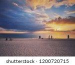 Beaytiful sunset time at Bradenton Beach.