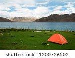 pangong lake in ladakh  north... | Shutterstock . vector #1200726502