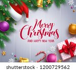 christmas vector banner and... | Shutterstock .eps vector #1200729562