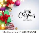 christmas background vector... | Shutterstock .eps vector #1200729568