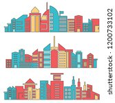 architecture skyscraper skyline ...   Shutterstock .eps vector #1200733102