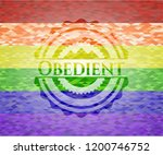 obedient on mosaic background... | Shutterstock .eps vector #1200746752