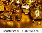 pure gold ore isolated on... | Shutterstock . vector #1200758578