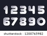set of numbers 0  1  2  3  4  5 ... | Shutterstock .eps vector #1200765982