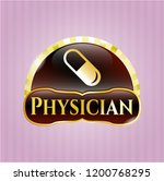 shiny badge with pill icon and ... | Shutterstock .eps vector #1200768295