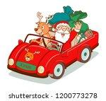cartoon vector of santa claus... | Shutterstock .eps vector #1200773278