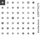 snowflake vector icons set ... | Shutterstock .eps vector #1200776275