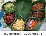 mixed rice and shrimp paste... | Shutterstock . vector #1200785845