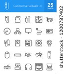 computer   hardware icons | Shutterstock .eps vector #1200787402