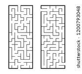 black abstract rectangular maze.... | Shutterstock .eps vector #1200793048
